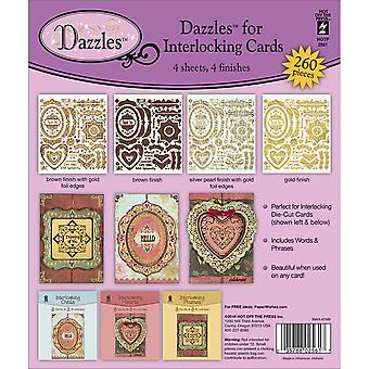 Dazzles Stickers 4/Pkg-Interlocking Cards DAZ2561