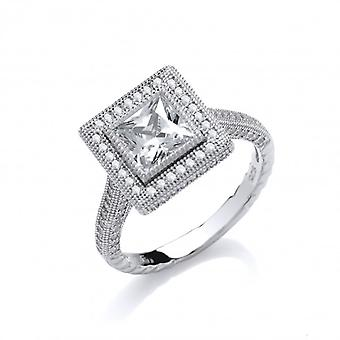 Cavendish French Framed Cubic Zirconia Sparkle Ring