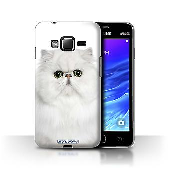 STUFF4 Case/Cover for Samsung Z1/Z130/Persian White/Cat Breeds
