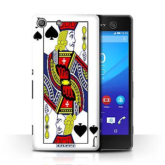 STUFF4 Case/Cover for Sony Xperia M5/Jack of Spades/Playing Cards