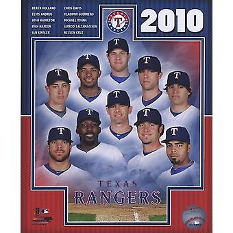 2010 Texas Rangers Team Composite Sports Photo