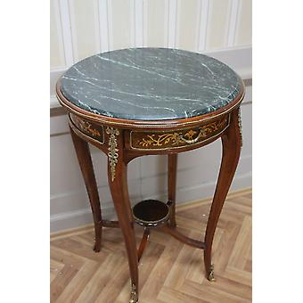 Baroque side - table antique style MkTa0016 marble dark green