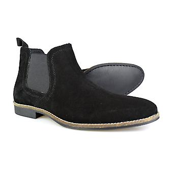 Byråkrati Stockwood Black Suede Classic Chelsea Boots