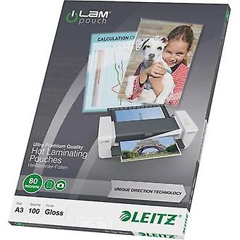 Laminate sheet Leitz DIN A3 80 micron glossy 100 pc(s)