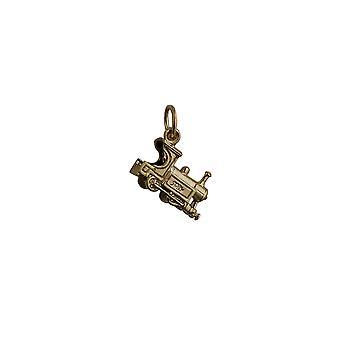9ct Gold 15x6mm Zug Anhänger oder Charm