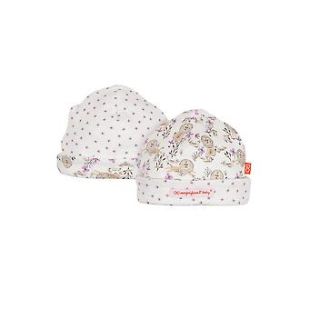 Magnificent Baby Magnetic Me™ Reversible Baby Girl Cap- Lion & the Mouse