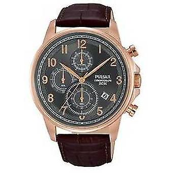 Pulsar Gents Brown Leather Chronograph PM3083X1 Watch