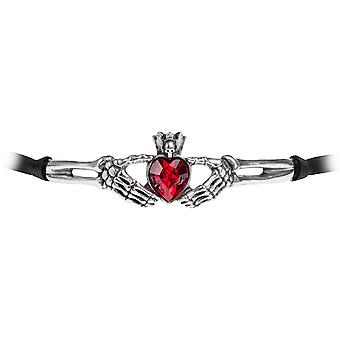 Alchemy Gothic Claddagh By Night Choker