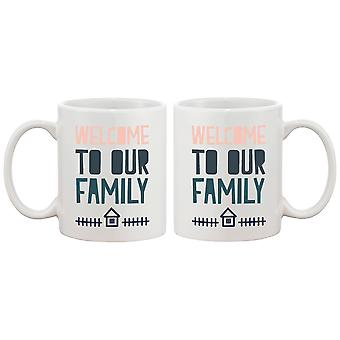 Welcome to Our Family Coffee Mug for Daughter in Law or Son in Law Cute Gift