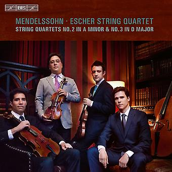 Mendelssohn / Escher-Zeichenkette-Quartett - Streichquartette Nr. 2 & 3 [SACD] USA import
