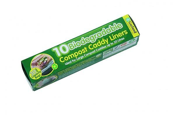 Biodegradable 30 Litre Compost Caddy Bin Liners (10 Per Roll)