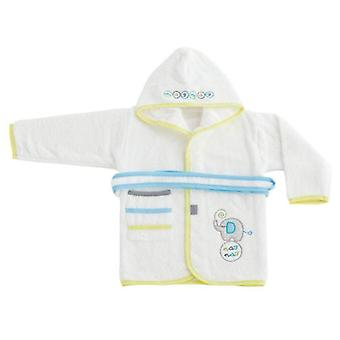 Naf Naf Bathrobe 100% Cotton Green Green Elephants