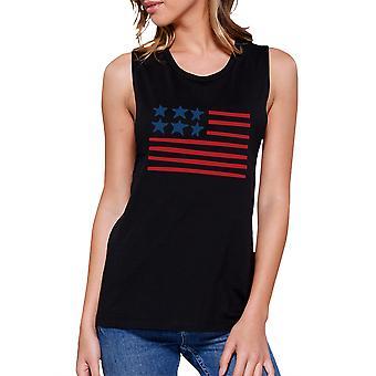 USA Flag muscolo senza maniche Top per i regali carina per esercito mogli