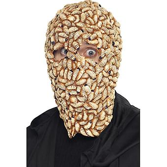 Maschera fatta larve vermi disgusto Maschera Halloween