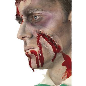 Bloody wound seamed u blood 20ml horror Halloween