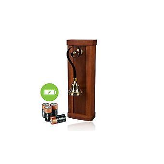 ideas4lighting Mulino mahogni træ batteri drevet døren Bell