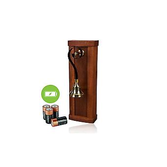 ideas4lighting Mulino Mahagoni Holz Batterie angetrieben Türklingel