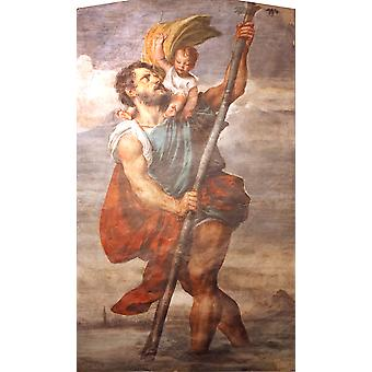 Titian - Saint Christophe Poster Print Giclee