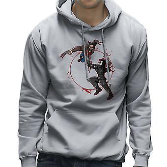 Blod Equinox Wolverine Vs Edward Scissorhands mænds hættetrøje