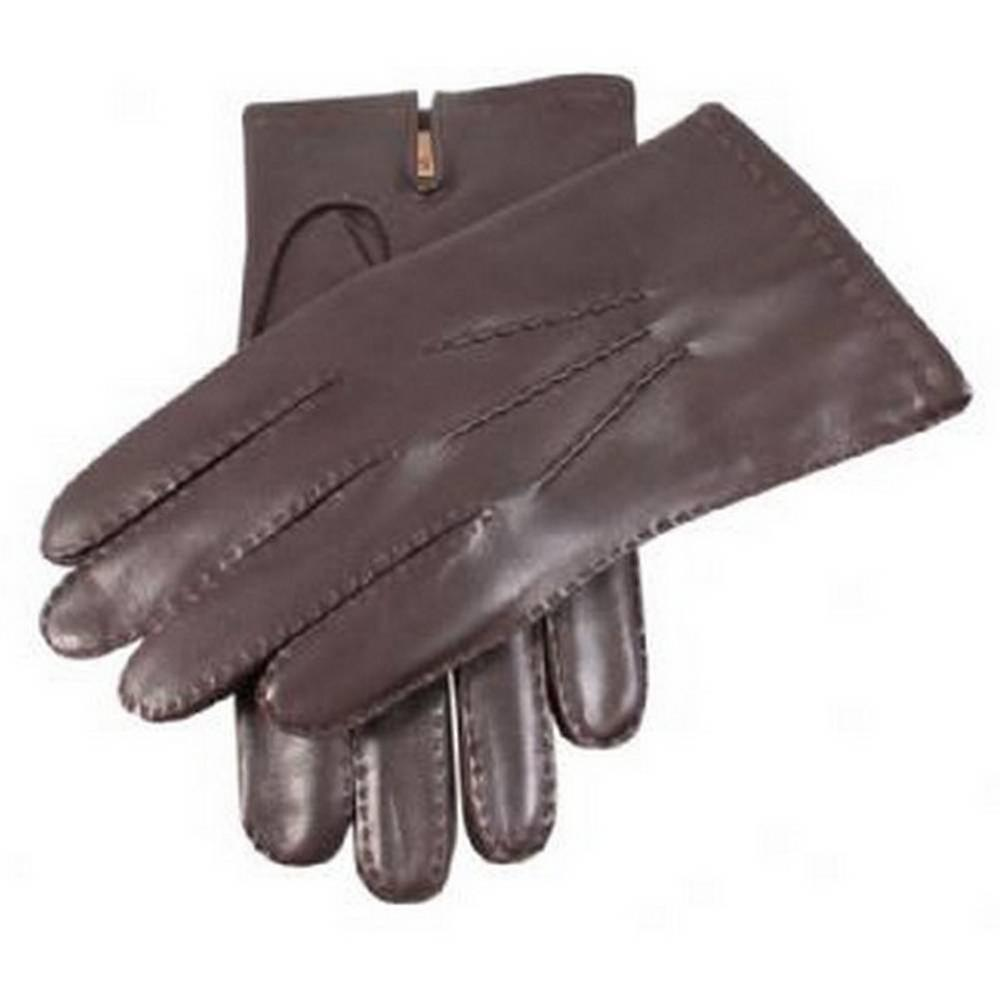 Dents Cashmere Lined Chelsea Leather Gloves - Brown