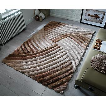 Verge Furrow Natural Bronze  Rectangle Rugs Plain/Nearly Plain Rugs