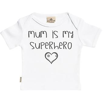 Spoilt Rotten Mum Is My Superhero Short Sleeve Baby T-Shirt