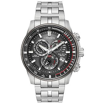 Citizen Eco-Drive Stainless Steel Chronograph Mens Watch AT4129 - 57H
