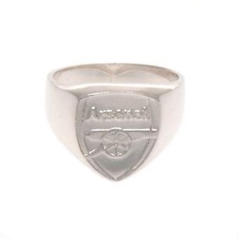 Medio de anillo de plata esterlina de arsenal
