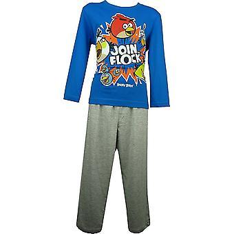 男の子怒っている鳥長袖パジャマ セット