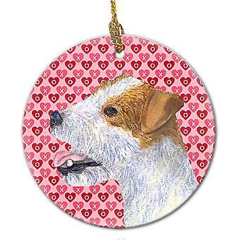 Carolines trésors SS4504CO1 Jack Russell Terrier ornement céramique