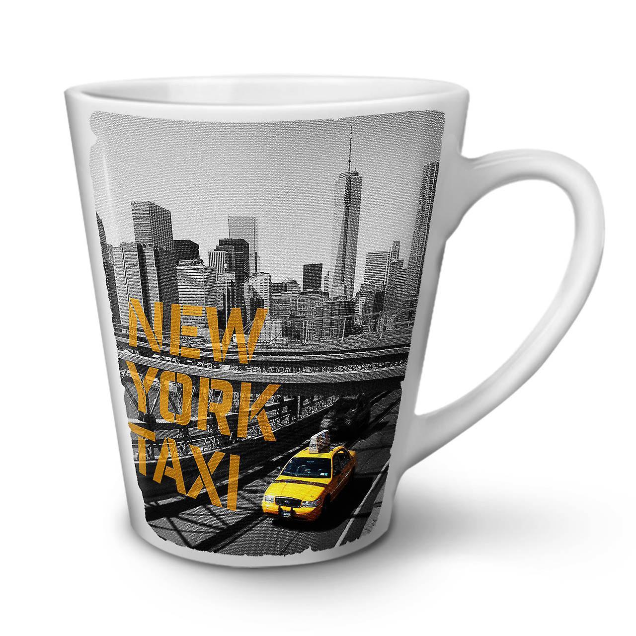 En Tasse Café 12 Blanche Céramique Latte Nouvelle Usa York Taxi New OzWellcoda wNn0v8Om