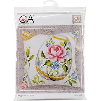 Collection D'Art Stamped Needlepoint Cushion Kit 40X40cm-Easter Feast CD5267