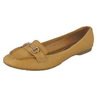 Spot de dames sur Loafer - Tan Synthetic - UK taille 8 - UE taille 41 - US taille 10