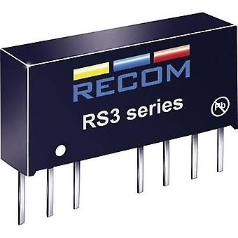ANBEFALINGER RS3-2405S RS3-2405S 3W DC/DC omformer RS3-2405S 18-36 Vdc 5 Vdc 600 mA 3 W