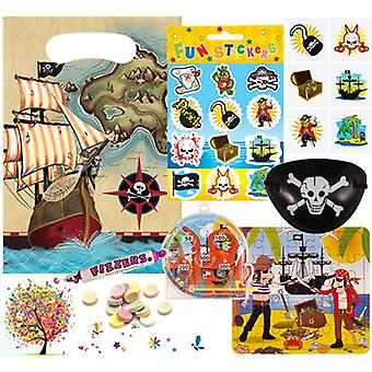 Pre Filled Ready Made Party Bag - Unisex - Pirate (Single )