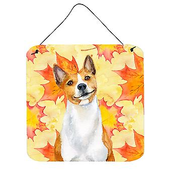 Carolines Treasures  BB9953DS66 Basenji Fall Wall or Door Hanging Prints