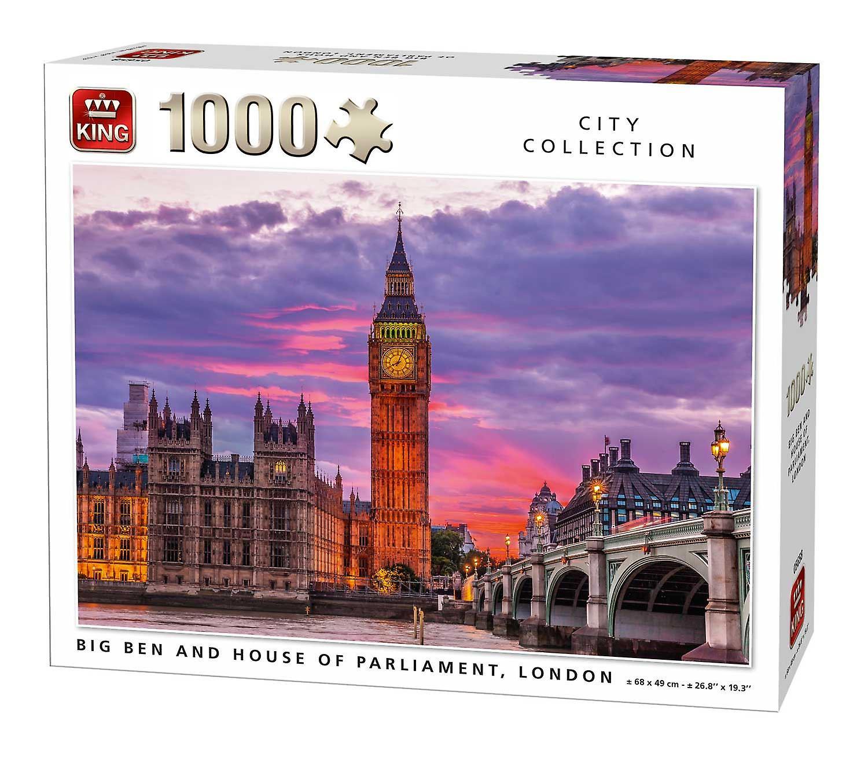 Król Big Ben zegar i Parlament House Londyn Jigsaw Puzzle (1000 sztuk)