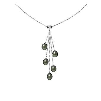 Collar woman in Silver 925 and 5 pearls of Tahiti