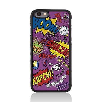 Call Candy Apple iPhone 7 Comic Capers 2D Printed Case-Purple