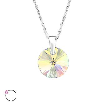Round crystal from Swarovski® - 925 Sterling Silver Necklaces