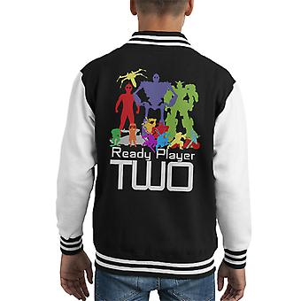 Ready Player One Player Two Silhouettes Kid's Varsity Jacket