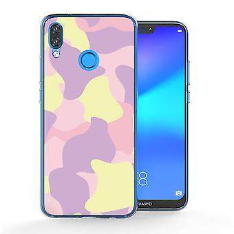 Huawei P20 Lite roze Camouflage TPU Gel geval
