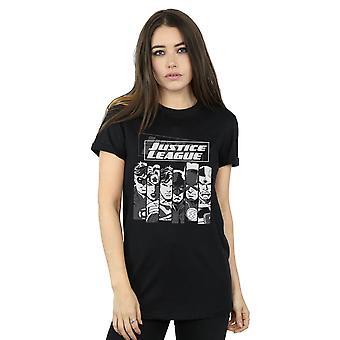 DC Comics Women's Justice League Stripes Boyfriend Fit T-Shirt