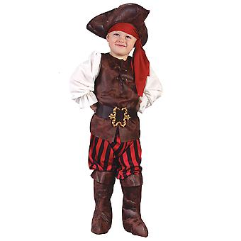 High Sea Buccaneer Pirate of Caribbean Captain Toddler Boys Costume