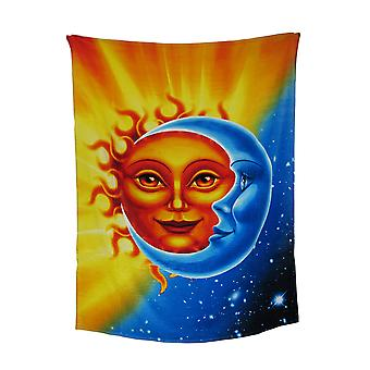 Celestial Sun And Moon Cotton Beach Blanket Towel 54 X 68 in.