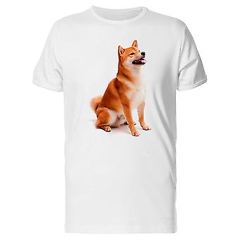 Shiba Inu Relaxed And Sitting Tee Men's -Image by Shutterstock