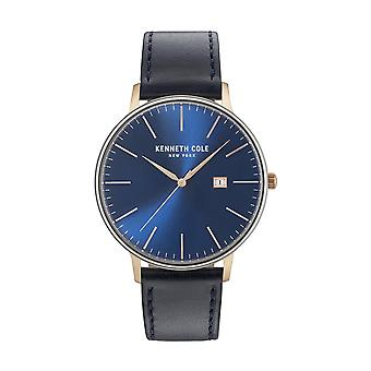 Kenneth Cole New York men's watch wristwatch leather KC15059004
