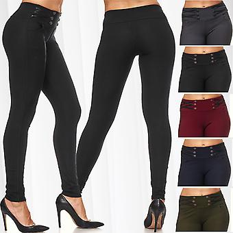 Ladies Biker Treggings Leather Sexy Pants Tube Jeans Stretch Skinny Hipsters Jeggings