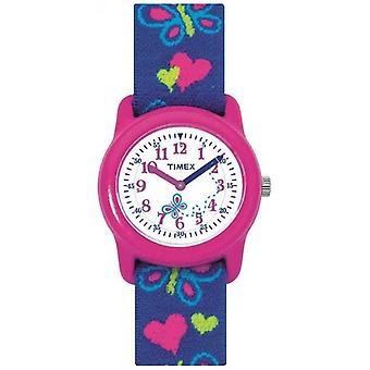 Timex Childrens børn sommerfugl rem T89001 Watch