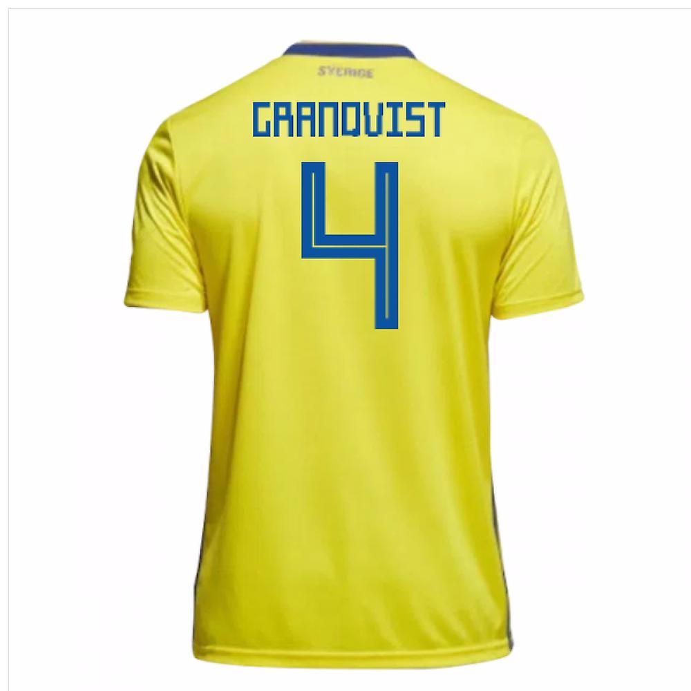 2018-19 Sweden Home Shirt (Granqvist 4)
